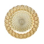 Sousplat de Vidro Bodrum Dourado 32,5 Cm