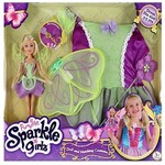Sparkle Girlz Boneca e Fantasia Fada Verde DTC