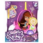 Sparkle Girlz Carro Mini Sparkles Rosa e Boneca Ruiva 4806 - Dtc