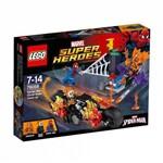 Spiderman Reune Forças com Motoqueiro Fantasma - Lego Super Heroes 76058