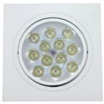 Spot de Embutir LED 12W Quadrado Borda Branca Bivolt Power XL