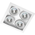 Spot Embutir Saturno/4 Gu10 Alumínio Branco - Attena