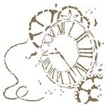 Stencil 30,5x30,5 OPA 2302 Relógio III