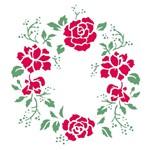 Stencil 30,5x30,5 OPA 2301 Mandala Rosas