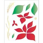 Stencil 20x25 OPA 1787 Flor Bico de Papagaio