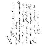Stencil 20x25 OPA 1882 Manuscrito Fé