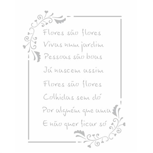 Stencil 20x25 OPA 2449 Poema Flores