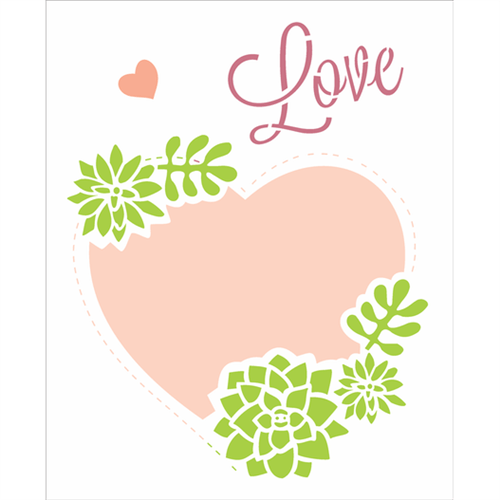 Stencil 20x25 OPA 2464 Moldura Coração
