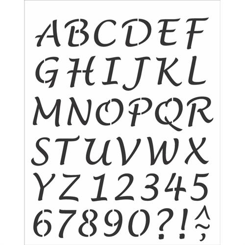 Stencil 20x25 OPA 2508 Alfabeto Lucinda Maiúsculo