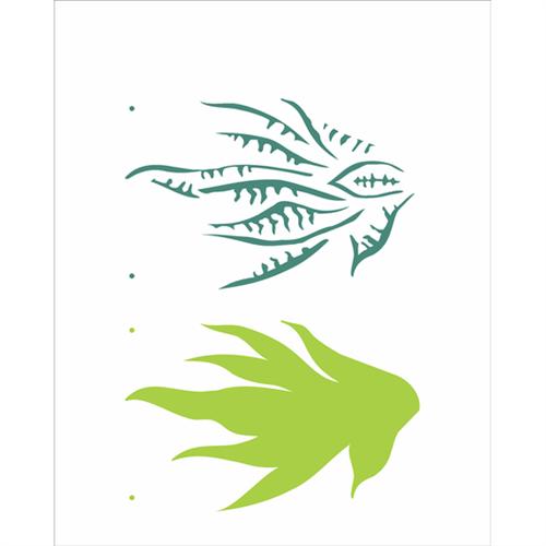 Stencil 20x25 OPA 2512 Plantas Espada de São Jorge