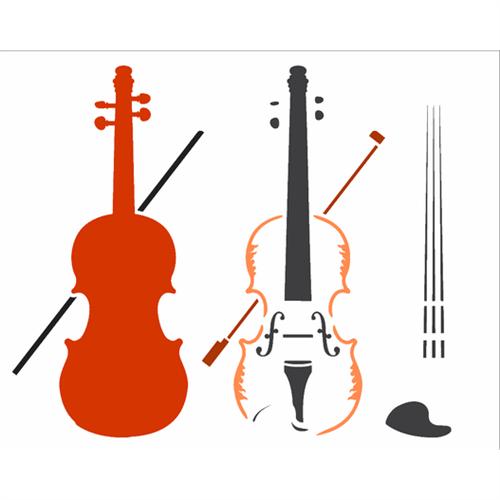 Stencil 20x25 OPA 2585 INSTRUMENTOS MUSICAIS VIOLINO