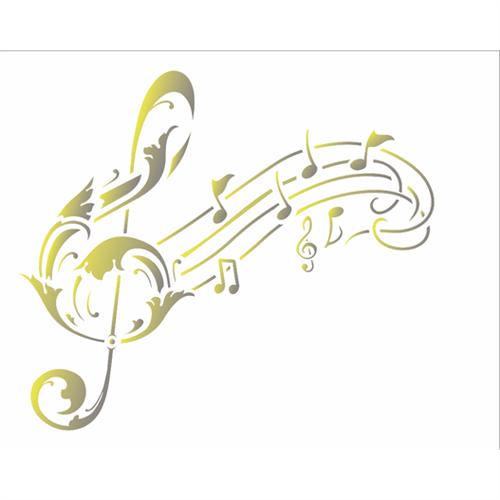 Stencil 20x25 OPA 2587 NOTA MUSICAL