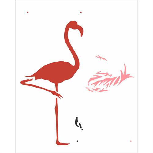 Stencil 20x25 OPA 2359 Flamingo