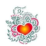 Stencil 20x25 OPA 2265 Coração Ornamento