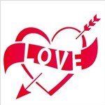 Stencil 10x10 Simples 1982 Love