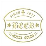 Stencil 10x10 Simples 1983 Rótulo Cerveja