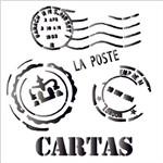 Stencil 14x14 Simples 1135 Cartas