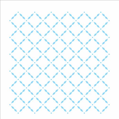 Stencil 14x14 Simples 2333 Estamparia Grade