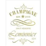 Stencil 15x20 OPA 2047 Rótulo Champagne