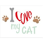 Stencil 15x20 OPA 2209 Pet I Love My Cat
