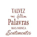 Stencil 15x20 OPA 2249 Frase Talves me Faltem Palavras