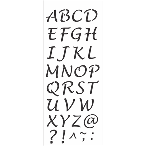 Stencil 17x42 OPA 2503 Alfabeto Maiúsculo