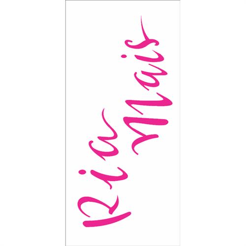 Stencil 7x15 OPA 2490 Frase Ria Mais