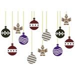 Stencil de Acetato para Pintura de Natal Opa Simples 20 X 25 Cm - 2553 Bolas Estampadas Ii