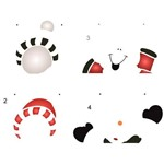Stencil de Acetato para Pintura de Natal Opa Simples 20 X 25 Cm - 2554 Boneco de Neve