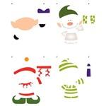 Stencil de Acetato para Pintura de Natal Opa Simples 20 X 25 Cm - 2555 Duende