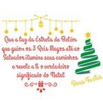 Stencil de Acetato para Pintura de Natal Opa Simples 20 X 25 Cm - 2558 Poema Mensagem Natalina