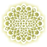 Stencil de Acetato para Pintura Opa 30,5 X 30,5 Cm - 2097 Mandala Flor
