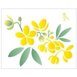 Stencil de Acetato para Pintura Opa 20 X 25 Cm - 2058 Flor Casiruba