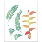 Stencil de Acetato para Pintura Opa 20 X 25 Cm - 2063 Flor Heliconia