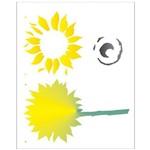 Stencil de Acetato para Pintura Opa 20 X 25 Cm - 2062 Girassol Ii