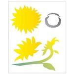 Stencil de Acetato para Pintura Opa 20 X 25 Cm - 2060 Girassois