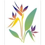Stencil de Acetato para Pintura Opa 20 X 25 Cm - 2065 Flor Strelitzia