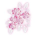 Stencil de Acetato para Pintura Opa 20 X 25 Cm - 2073 Negativo Rosas