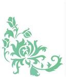 Stencil de Acetato para Pintura Opa 20 X 25 Cm - 1766 Cantoneira Crisantemo