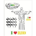 Stencil de Acetato para Pintura Opa 20 X 25 Cm - 1238 Cidade do Rio de Janeiro
