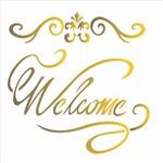 Stencil de Acetato para Pintura Opa 20 X 25 Cm –1834 – Welcome I