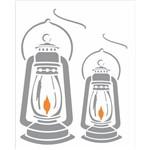 Stencil de Acetato para Pintura Opa 20x25 2363 Lampião