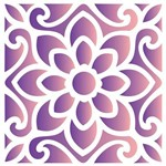 Stencil de Acetato para Pintura Opa 10 X 10 Cm - 1712 Ladrilho Flor