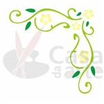 Stencil de Acetato para Pintura Opa 10 X 10 Cm - 502 Cantoneira Folhas