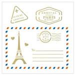 Stencil de Acetato para Pintura Opa 14 X 14 Cm - 2008 Cartão Postal Paris