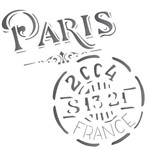 Stencil de Acetato para Pintura Opa 14 X 14 Cm - 1742 Selo Paris