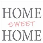 Stencil de Acetato para Pintura Opa 14x14 2337 Frase Home Sweet Home