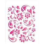 Stencil de Acetato para Pintura Opa 15 X 20 Cm - 1006 Estamparia Floral Ii