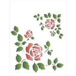 Stencil de Acetato para Pintura Opa 15 X 20 Cm - 1044 Cantoneira Rosas