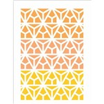 Stencil de Acetato para Pintura Opa 15x20 2352 Estamparia Vitral Triangulo